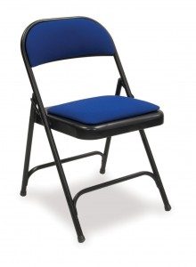 folding chair seat back pad