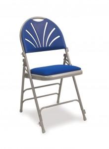 Fanback folding chair