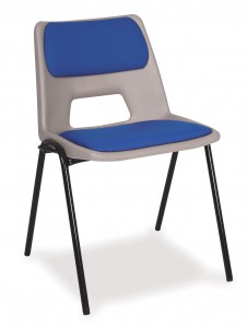 padded plastic stacking chair