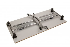 Folding Table Chrome Closed