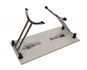 Folding Table  Chrome Open