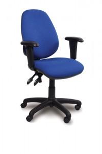 High back adjustable swivel armchair