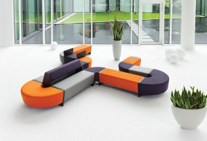 Bold upholstered lounge furniture