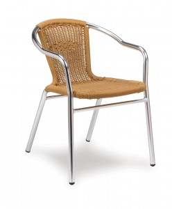 outdoor wicker armchair