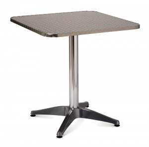 Aluminium 700mm square table