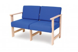 452W two seat wooden sofa
