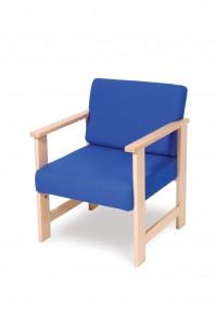 455W wooden lounge armchair