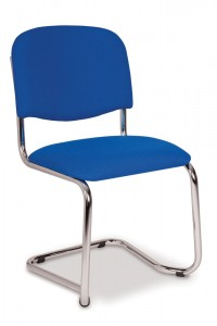 603 chrome plate cantilever chair