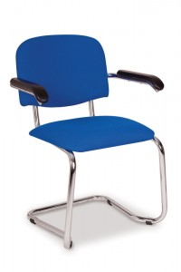 604 chrome cantilever armchair