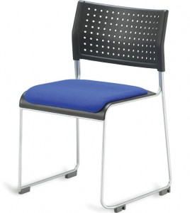 padded public chair