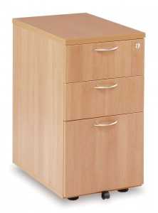 Desk High Pedestal 3 Drawer