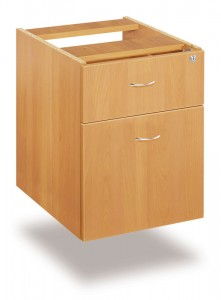 Fixed 2 drawer pedestal